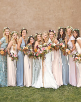 Bridesmaids' Floral Crowns