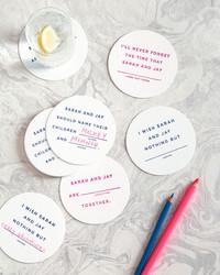 Mad Libs Drink Coasters