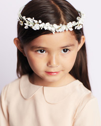 Flower Girl Floral Ribbon Crown