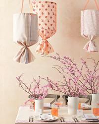 Sheer Delight Hanging Fabric Lanterns
