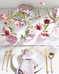 Painted Flower Bud Vases