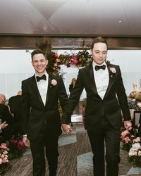 """""""Big Bang Theory"""" Star Jim Parsons Marries Longtime Love Todd Spiewak"""