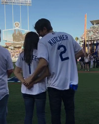 Ashton Kutcher and Mila Kunis Had a PDA-Filled Date Night at the Dodgers Game