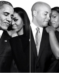 This Couple's Engagement Shoot Was Inspired by Barack and Michelle Obama