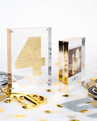 An Easy DIY We Love: Mylar-Wrapped Frames
