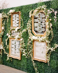 12 Unique Wedding Seating Charts to Guide Guests to Their Tables