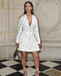Rihanna Shuts Down Paris Fashion Week in a Wedding-Worthy Dress
