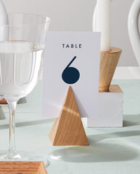 Geometric Table-Number Holders