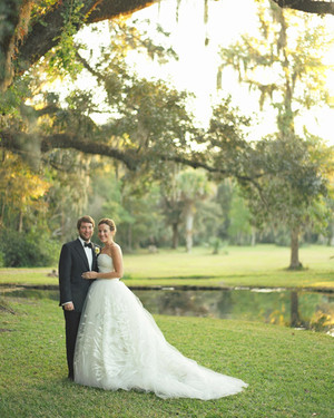 An Orange, Pink, and Gray Wedding at a Plantation in Charleston, South Carolina