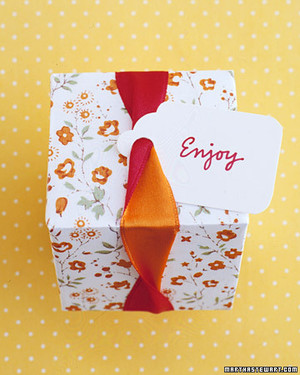 Yellow and Orange Wedding Decorations and Favors
