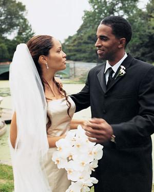 A Formal Wedding in a Park in Brooklyn, New York