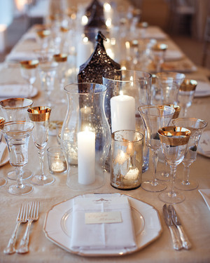 68 Candle Centerpieces