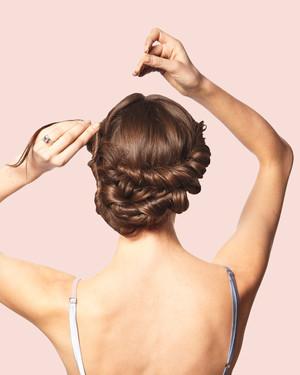 Stupendous Diy Wedding Updos Martha Stewart Weddings Hairstyle Inspiration Daily Dogsangcom