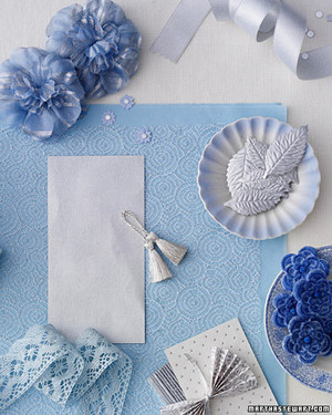 Wedding Colors: Blue and Silver