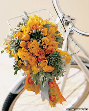 Orange Wedding Bouquets