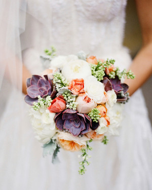 24 Succulent Wedding Bouquets