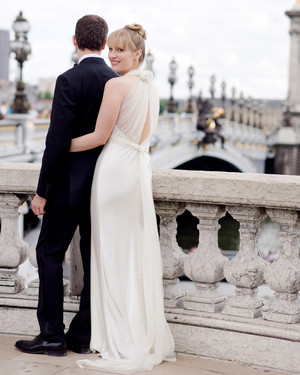 A Formal Black-and-White Destination Wedding in France