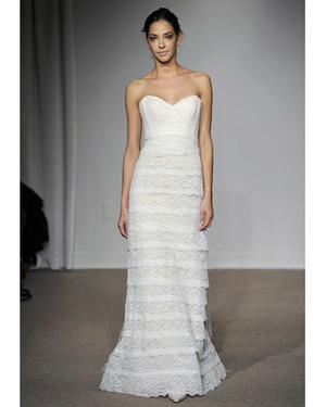 Sheath Wedding Dresses from Spring 2012 Bridal Fashion Week