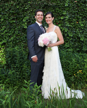 A Pretty, Pink Outdoor Destination Wedding at Home in Connecticut