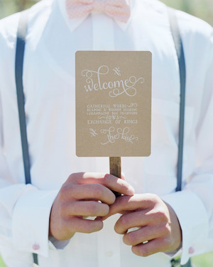 11 Wedding Program Fans to Keep Guests Cool