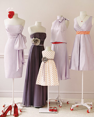 Wedding Colors: Lavender and Red