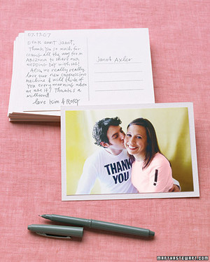Handmade Wedding Thank-You Notes