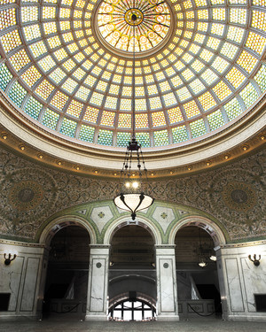 Say Your I Do's in Chicago Under the World's Largest Tiffany Glass Dome
