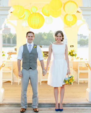A Whimsical, Yellow Destination Wedding at Walt Disney World, Florida