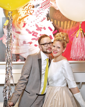 A Retro-Inspired New Year's Eve Wedding in Chicago