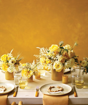 Wedding Colors: Honey and Wheat