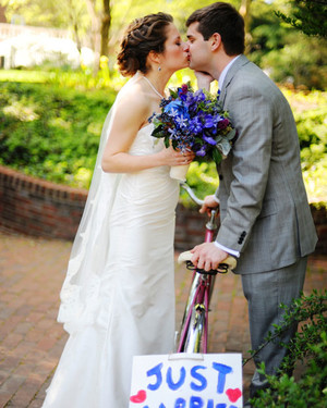 A Collegiate-Inspired Royal-Blue-and-White Wedding in Washington, D.C.