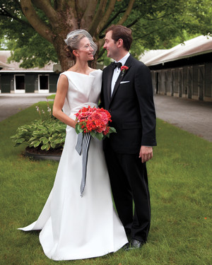 A Black-and-White Whimsical Wedding in Saratoga Springs, New York