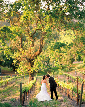 An Outdoor Vintage, Rustic-Inspired Green Wedding at a Vineyard in California