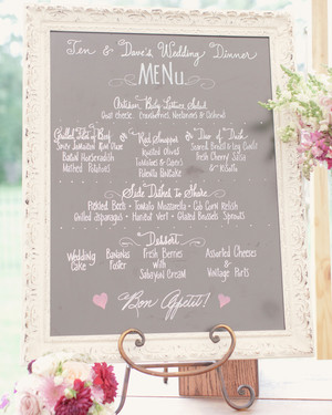 Menu Cards from Real Weddings