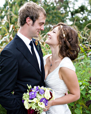 A Casual Purple-and-Orange Rustic Wedding in Virginia
