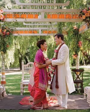 A Traditional Pink Wedding Outdoors in California