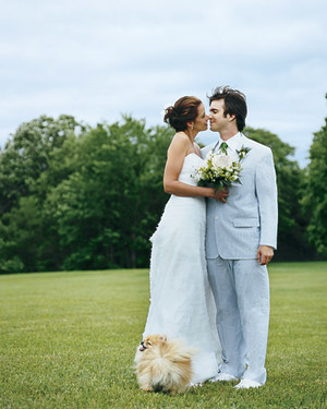A Moss-Green and Lemon-Yellow Vintage Wedding Outdoors in New York