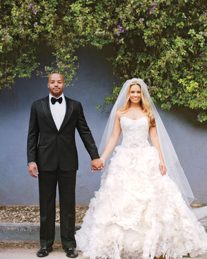 CaCee Cobb and Donald Faison's Formal Rustic Wedding at Home in Los Angeles, California