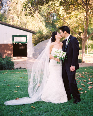 A Blue Formal Outdoor Wedding in California