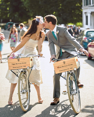 A Whimsical, Vintage Teal-and-Pink Wedding in New Hampshire