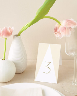 DIY Table Numbers to Count on for a Special Touch