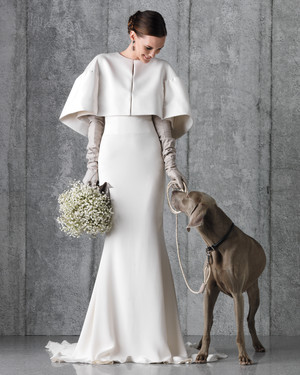 Powder White and Shades of Gray Are an Elegant Pairing for Your Celebration