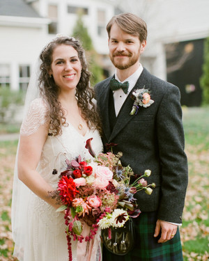 A Rustic Fall Barn Wedding in Maine