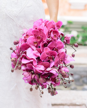 Monochromatic Wedding Bouquets