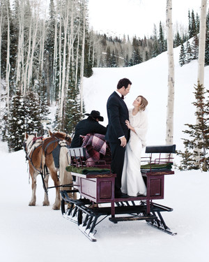 Genevieve and Eric's Snowy Utah Wedding