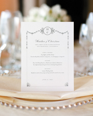 Best Wedding Menu Cards From Real Celebrations