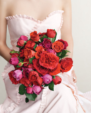 Romantic Red Wedding Bouquets