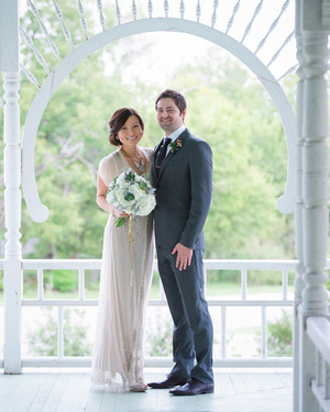 A Modern Mint-and-Gold DIY Wedding in Austin
