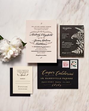 25 Unexpected Winter Wedding Invitations | Martha Stewart Weddings