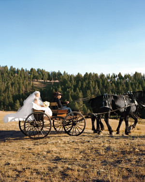 Kate Bosworth and Michael Polish's Ranch Wedding in Montana